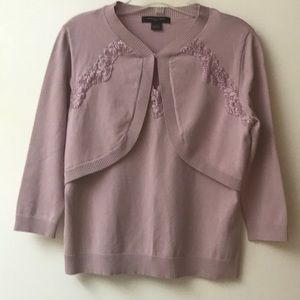 August Silk Dusty Rose Sweater